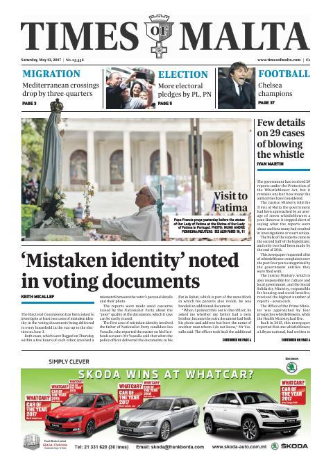Times of Malta - Saturday, May 13, 2017