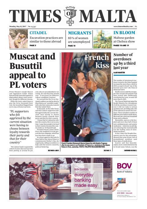 Times of Malta - Monday, May 15, 2017