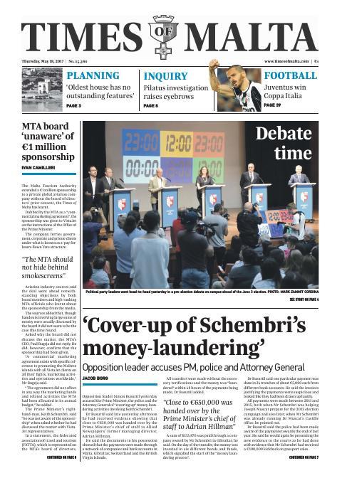 Times of Malta - Thursday, May 18, 2017
