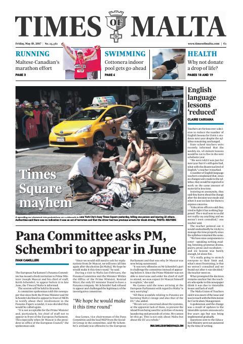 Times of Malta - Friday, May 19, 2017