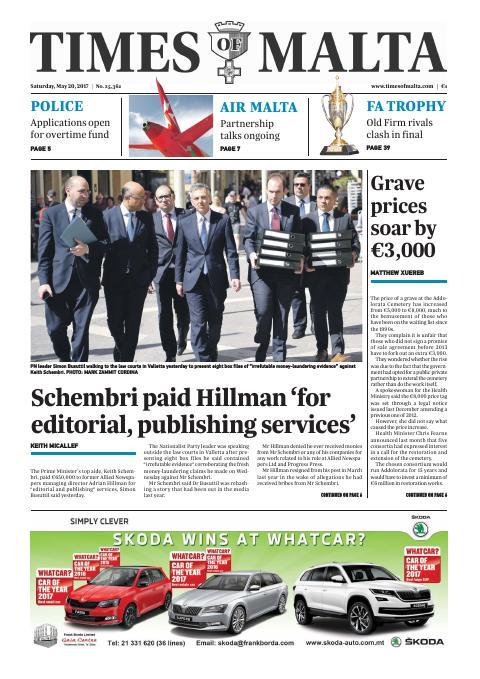 Times of Malta - Saturday, May 20, 2017