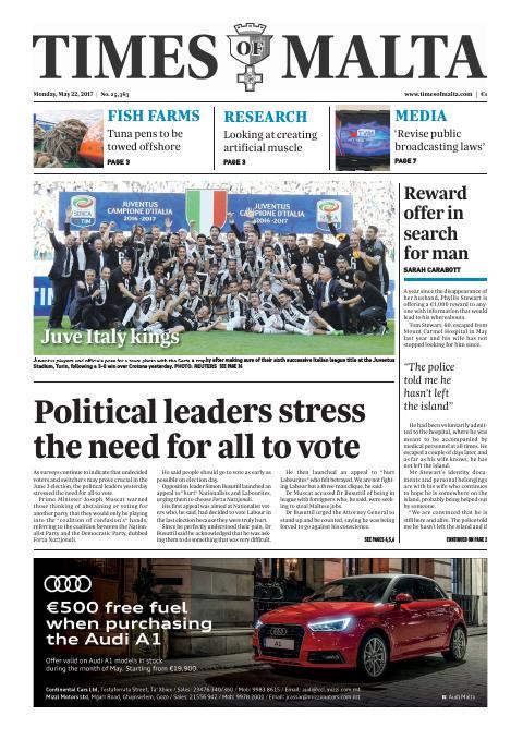 Times of Malta - Monday, May 22, 2017