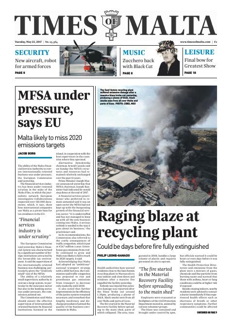 Times of Malta - Tuesday, May 23, 2017