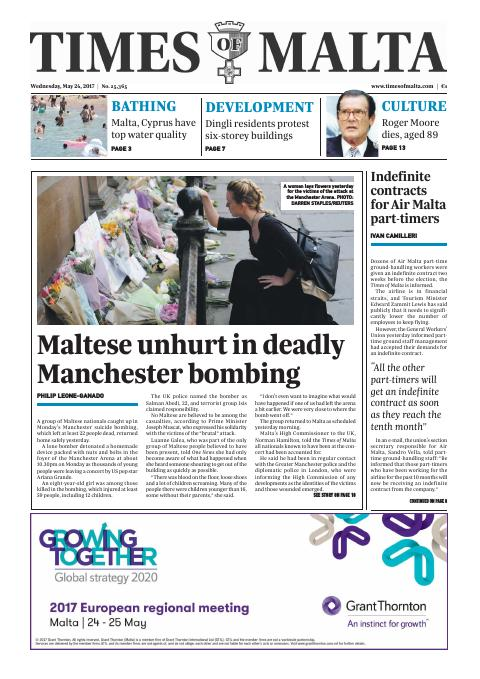 Times of Malta - Wednesday, May 24, 2017