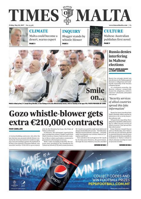 Times of Malta - Friday, May 26, 2017