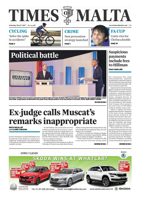 Times of Malta - Saturday, May 27, 2017