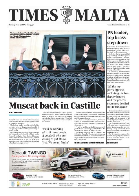 Times of Malta - Tuesday, June 6, 2017
