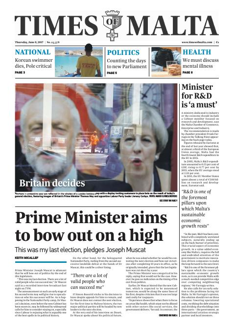 Times of Malta - Thursday, June 8, 2017