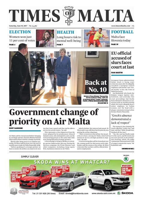 Times of Malta - Saturday, June 10, 2017