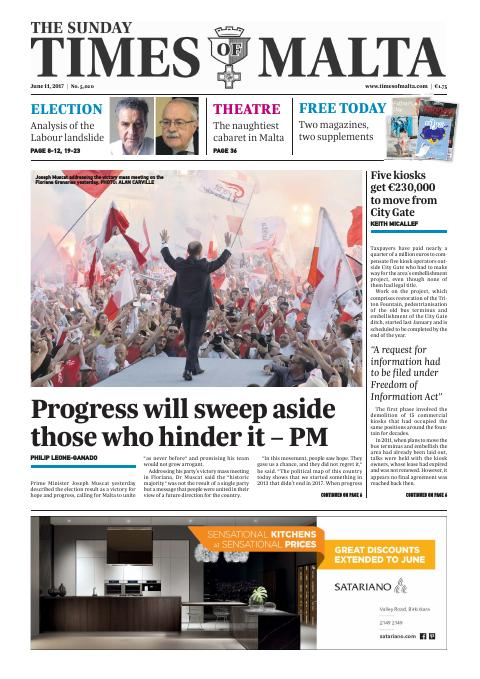 Times of Malta - Sunday, June 11, 2017