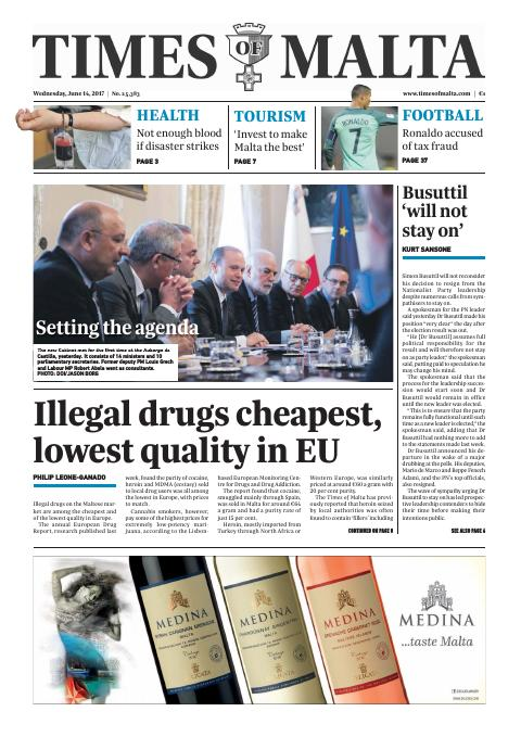 Times of Malta - Wednesday, June 14, 2017