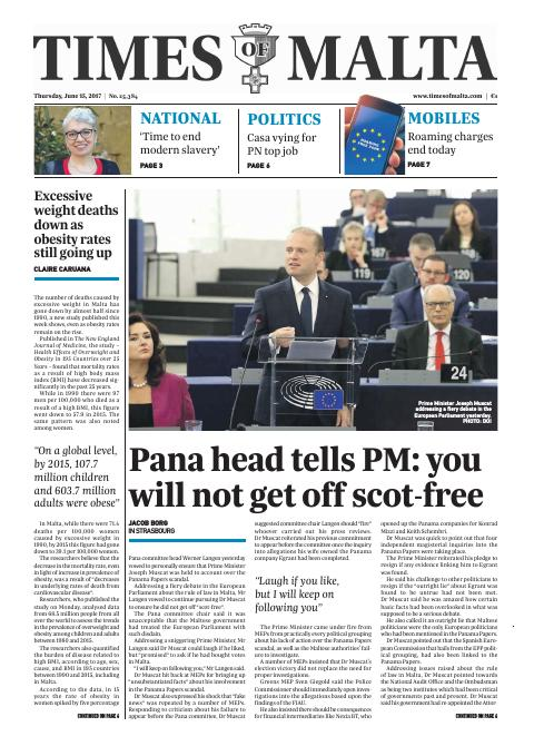 Times of Malta - Thursday, June 15, 2017
