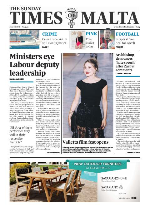 Times of Malta - Sunday, June 18, 2017