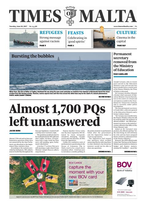 Times of Malta - Tuesday, June 20, 2017