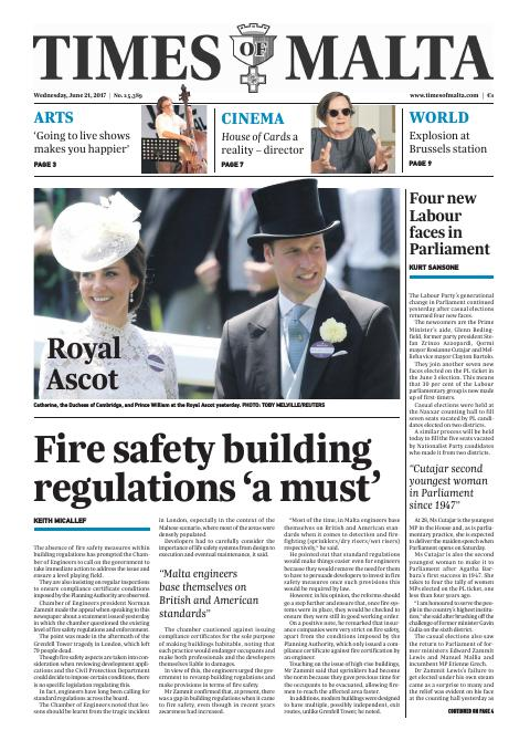 Times of Malta - Wednesday, June 21, 2017