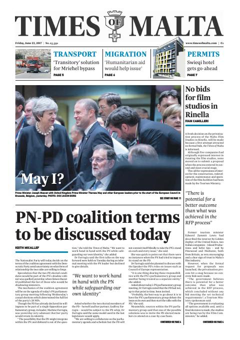 Times of Malta - Friday, June 23, 2017