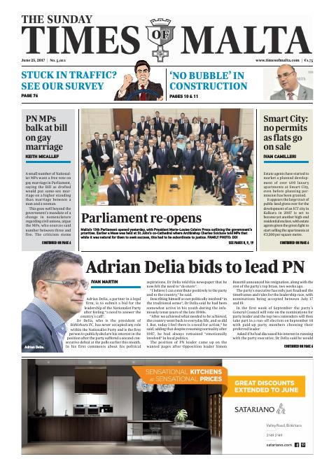 Times of Malta - Sunday, June 25, 2017