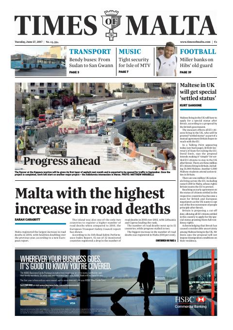 Times of Malta - Tuesday, June 27, 2017