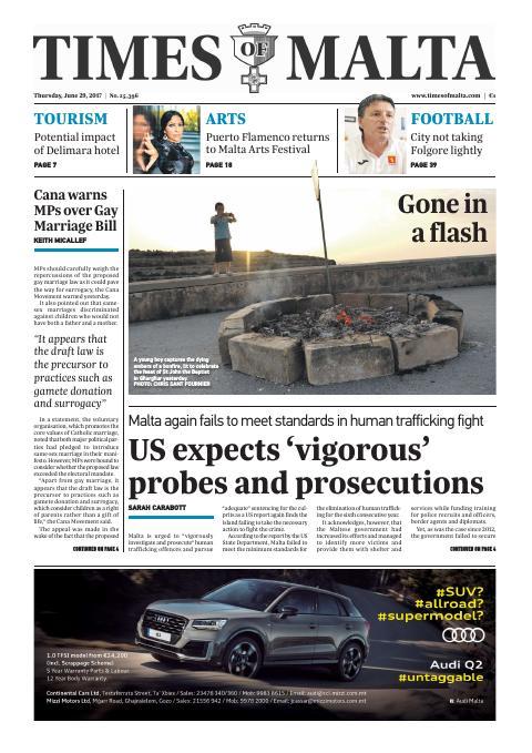 Times of Malta - Thursday, June 29, 2017