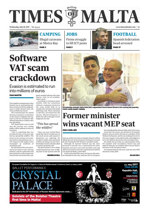 Times of Malta - Wednesday, July 19, 2017
