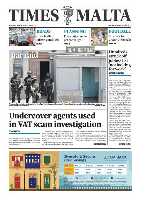 Times of Malta - Thursday, July 20, 2017