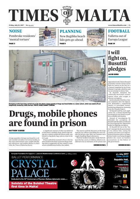 Times of Malta - Friday, July 21, 2017