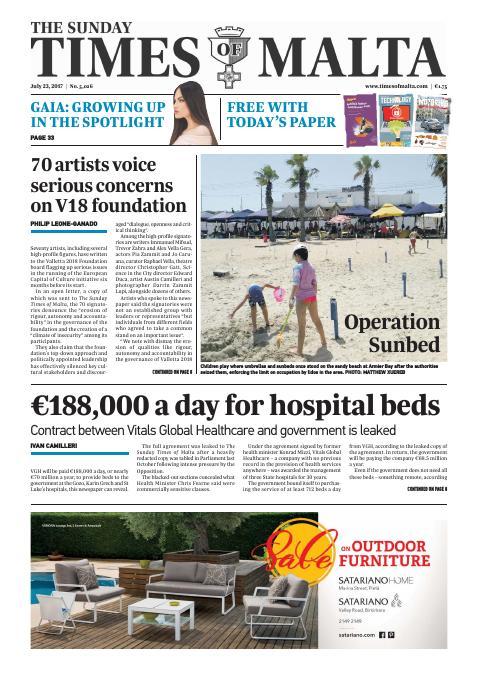Times of Malta - Sunday, July 23, 2017