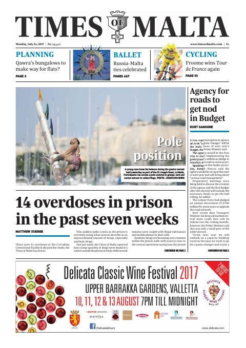 Times of Malta - Monday, July 24, 2017