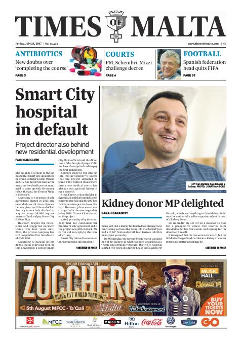 Times of Malta - Friday, July 28, 2017