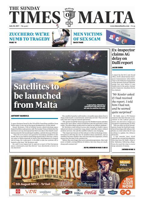 Times of Malta - Sunday, July 30, 2017
