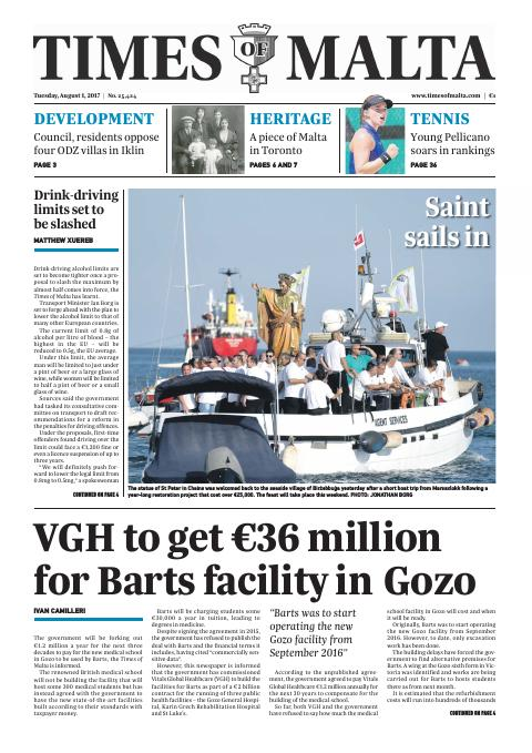 Times of Malta - Tuesday, August 1, 2017