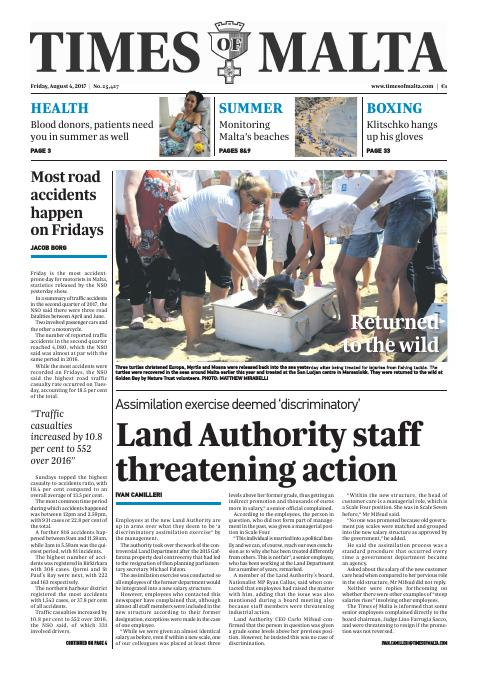 Times of Malta - Friday, August 4, 2017