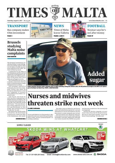 Times of Malta - Saturday, August 5, 2017
