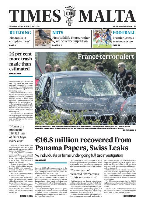 Times of Malta - Thursday, August 10, 2017