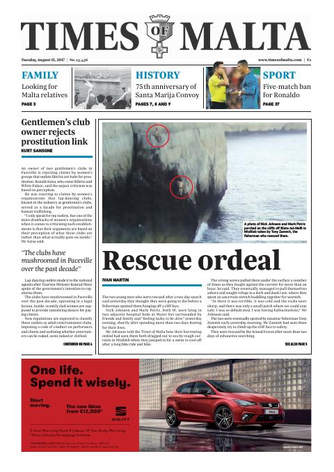 Times of Malta - Tuesday, August 15, 2017
