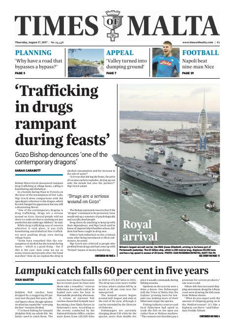 Times of Malta - Thursday, August 17, 2017