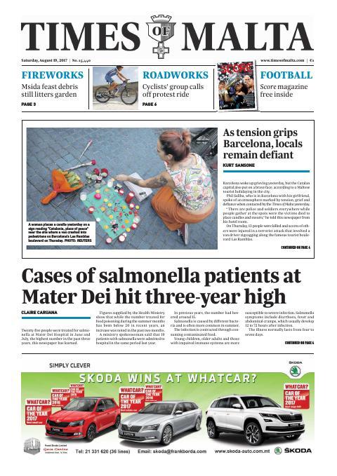 Times of Malta - Saturday, August 19, 2017