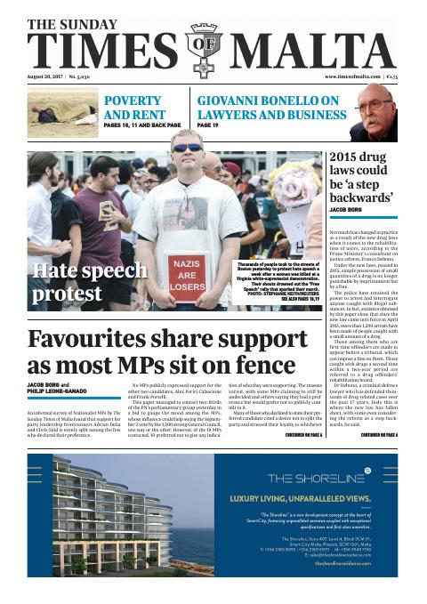 The Sunday Times of Malta - Sunday, August 20, 2017